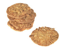 Peanut Crunchy Biscuits Royalty Free Stock Photo