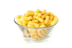 Peanut flips. Served in glass bowl Royalty Free Stock Images