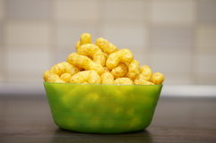 Peanut flips. In a plastic bowl Royalty Free Stock Images