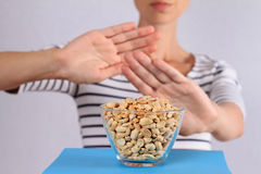 Peanut food allergy concept Stock Photography