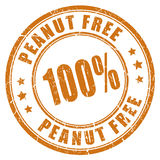 Peanut free rubber stamp Stock Image