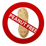 Peanut Free Symbol Royalty Free Stock Photo