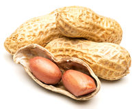 Peanut isolated royalty free stock photography