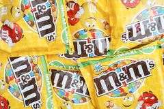 Peanut m&m's Stock Image