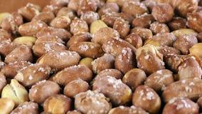 Peanut Macro View. Food Ingredient Healthy and Energy video stock footage