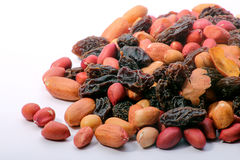 Peanut mix with dried fruit Stock Photos