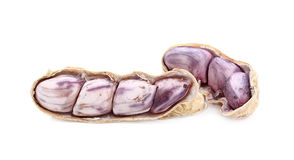 Peanut, nut, goober, ground-nut, monkey-nut isolated Royalty Free Stock Photos
