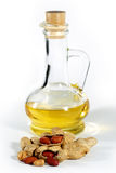 Peanut, nuts and oil Royalty Free Stock Photography