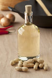 Peanut oil. Bottle of peanut oil ready to use for a salad Stock Image