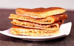 Peanut Pancakes Royalty Free Stock Photography