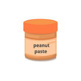 Peanut paste islated illustration Royalty Free Stock Images