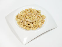 Peanut in the plate Royalty Free Stock Photography
