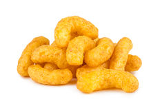 Peanut puffs. Stack of crunchy peanut puffs Stock Image