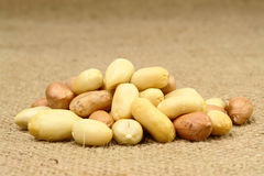 Peanut on Sackcloth Stock Photo