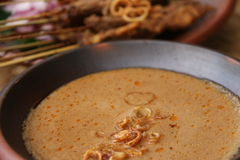 Peanut Sauce for Satay Stock Photo