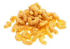 Peanut snacks isolated on white Royalty Free Stock Photo