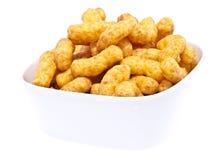 Peanut snacks isolated on white Stock Image