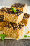 Peanut squares Stock Photography