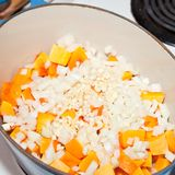 Peanut and squash soup Royalty Free Stock Photo
