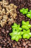 Peanut star shape in still life tone. Peanut star shape fresh from the tree in still life tone stock images