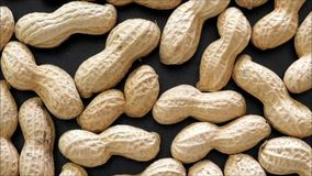 Peanut texture. In the kitchen stock video footage