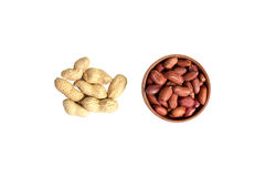 Peanut. Top view. composition of peanuts. isolated Royalty Free Stock Photography