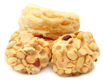 Peanut treat with fresh cookies Stock Images