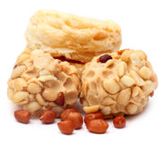 Peanut treat with fresh cookies Stock Image