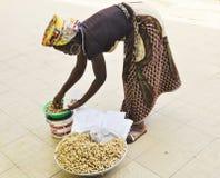 Peanut vendor Royalty Free Stock Photos