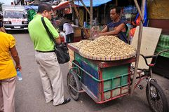 Peanut Vendor, Cebu City, Philippines Stock Photos
