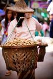 Peanut Vendor, Thailand Stock Photo