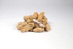 Peanut on white background. Peel peanut on white background Stock Photos