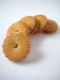 Peanutbutter Cookies 4. Row of peanutbutter sandwich cookies, natural light stock image