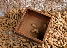 Peanuts. On a market stall Royalty Free Stock Images
