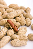 Peanuts. Much peanuts on isolated background Royalty Free Stock Images