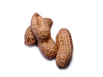 Peanuts. 3  Peanuts over white background Royalty Free Stock Photo