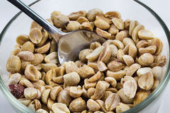 Peanuts. Dry roasted peanuts in a bowl Royalty Free Stock Image