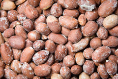 Peanuts. In a market  background Royalty Free Stock Photography