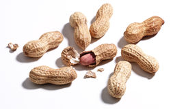Peanuts. Few peanuts Royalty Free Stock Images