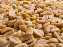 Peanuts. Close up from lots of salted peanuts Royalty Free Stock Photography