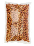 Peanuts in Bag with path Stock Photo
