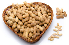 Peanuts in a basket Royalty Free Stock Images
