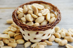 Peanuts basket Royalty Free Stock Image