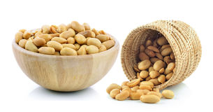 Peanuts in the basket Royalty Free Stock Photo