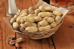 Peanuts and beer Royalty Free Stock Images