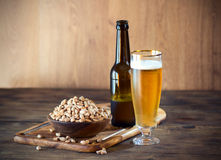 Peanuts and Beer Stock Photography