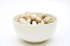 Peanuts in a bowl Royalty Free Stock Images