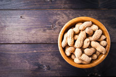 Peanuts in bowl Royalty Free Stock Image