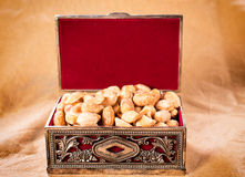 Peanuts in box Royalty Free Stock Image
