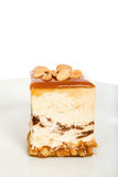 Peanuts Cheesecake Isolated on White Background Royalty Free Stock Image